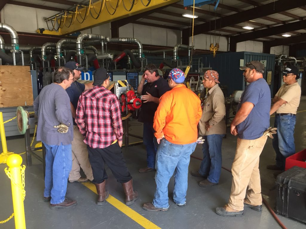 Journeymen training on Wach's Machining Tools